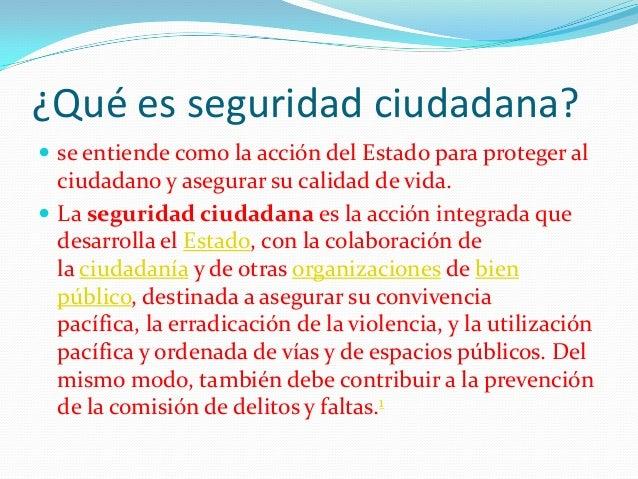 Seguridad ciudadana responsabilidad del estado for Concepto de oficina y su importancia