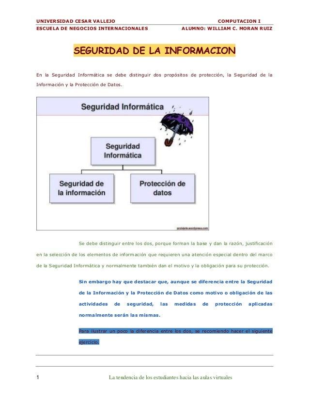 UNIVERSIDAD CESAR VALLEJO COMPUTACION I ESCUELA DE NEGOCIOS INTERNACIONALES ALUMNO: WILLIAM C. MORAN RUIZ 1 La tendencia d...