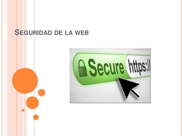 SEGURIDAD DE LA WEB