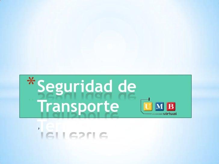 * Seguridad de Transporte Terrestre ,