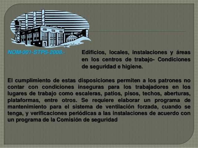 Seguridad e higiene industrial for Escaleras nom 001