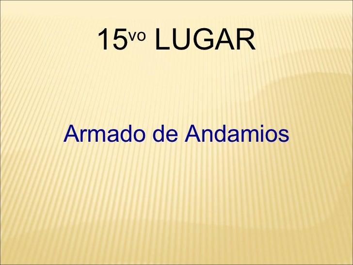 Armado de Andamios 15 vo  LUGAR