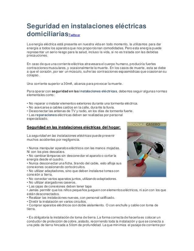 Normas para instalaciones electricas domiciliarias