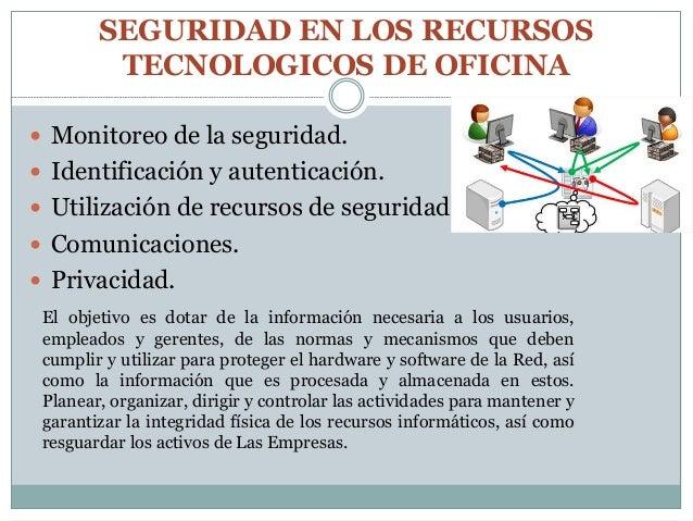Seguridad en los recursos tecnologicos de oficina for Cuales son los equipos de oficina