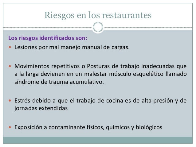 Seguridad en restaurantes for Manual de procedimientos de cocina en un restaurante