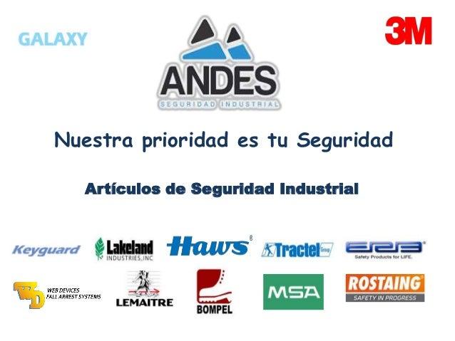 Nuestra prioridad es tu Seguridad Artículos de Seguridad Industrial