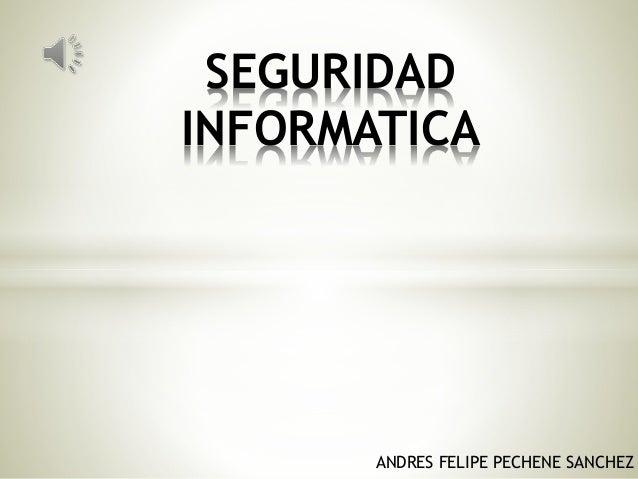 ANDRES FELIPE PECHENE SANCHEZ SEGURIDAD INFORMATICA