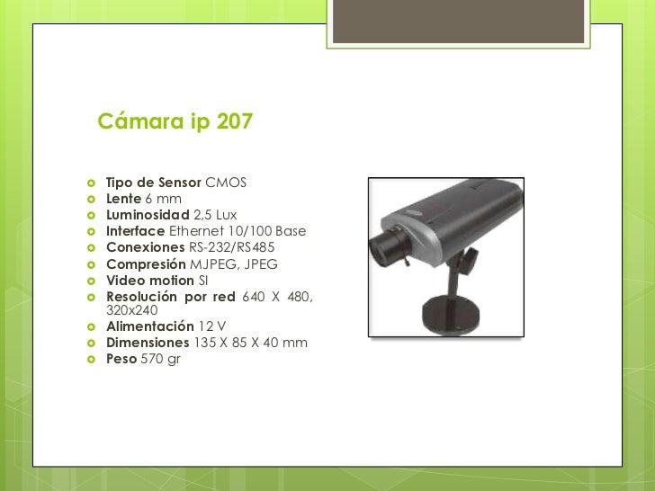 Diferencias entre una cámarade seguridad tradicional yuna cámara IP: Las cámaras IP tienen incorporado un  ordenador, peq...