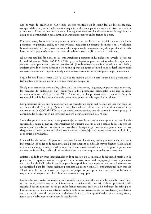 ESTUDIO SOBRE LA SEGURIDAD EN EL MAR PARA LA PESCA ARTESANAL Y EN PEQ…