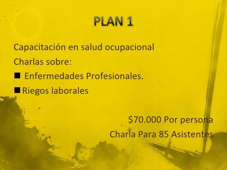 Seminario en salud ocupacionalCharlas sobre: Enfermedades Profesionales.Riegos laborales                         $85.000...