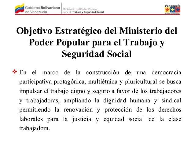 Sistema de seguridad social en venezuela for Ministerio del interior empleo