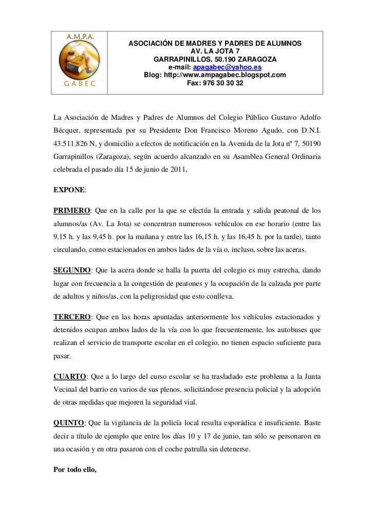 ASOCIACIÓN DE MADRES Y PADRES DE ALUMNOS                                           AV. LA JOTA 7                          ...