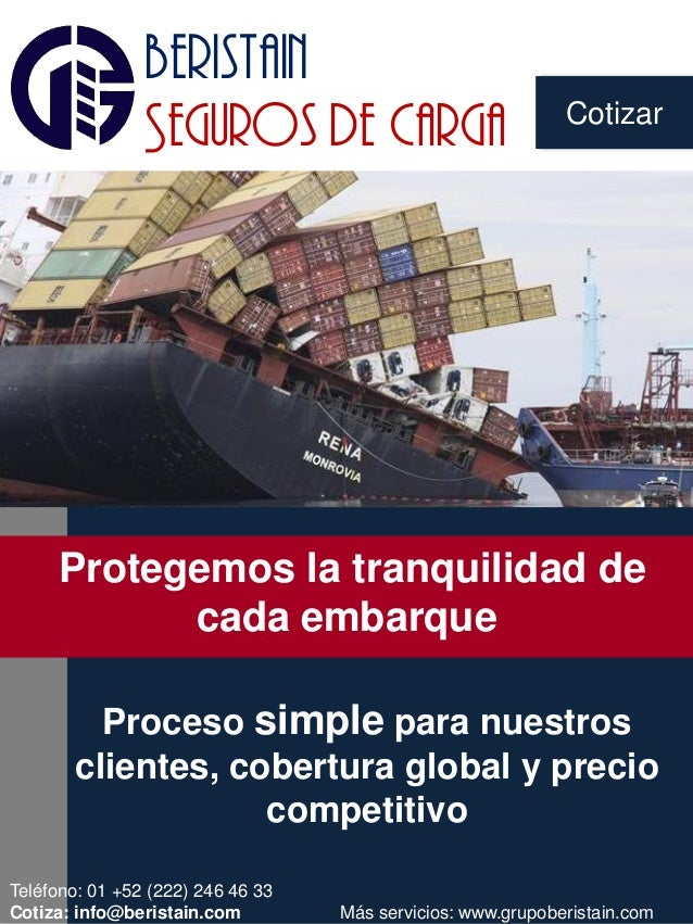 Cotizar beristain Seguros de carga NOVEDAD EN EL AIRE Proceso simple para nuestros clientes, cobertura global y precio com...