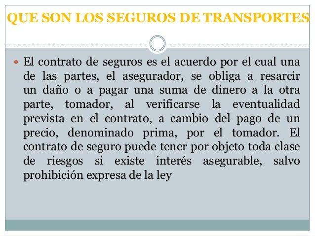 Seguros de  transporte internacional Slide 3