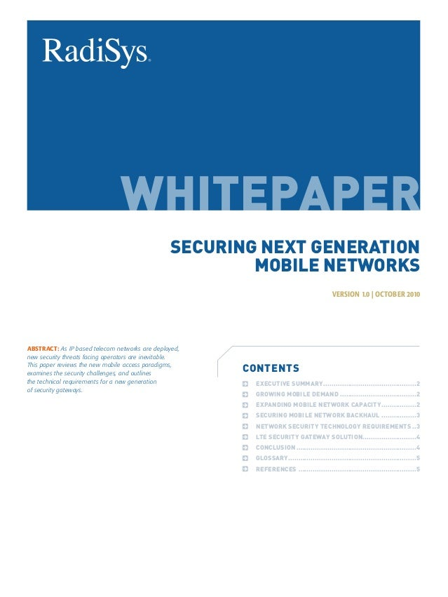 SECURING NEXT GENERATION                                                         MOBILE NETWORKS                          ...