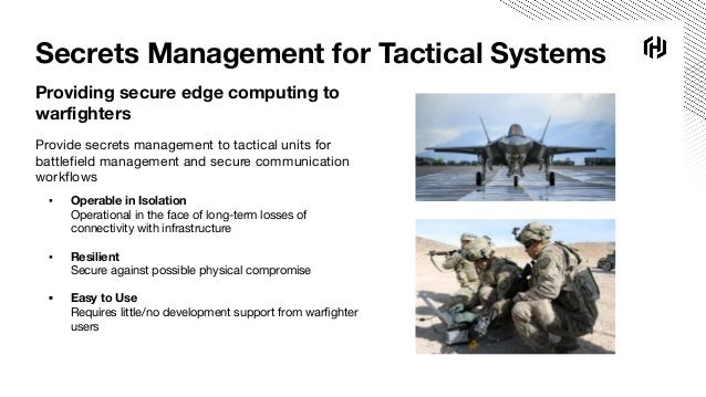 Military Edge Computing with Vault and Consul Slide 2