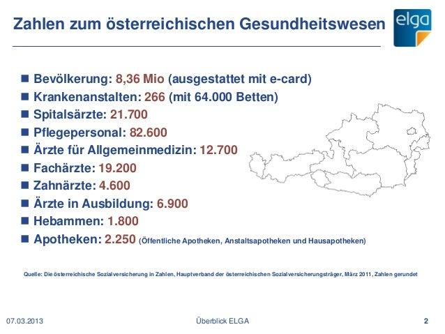 SeHF 2013   Die elektronische Gesundheitsakte ELGA in Österreich (Hubert A. Eisl) Slide 2
