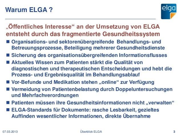 SeHF 2013   Die elektronische Gesundheitsakte ELGA in Österreich (Hubert A. Eisl) Slide 3