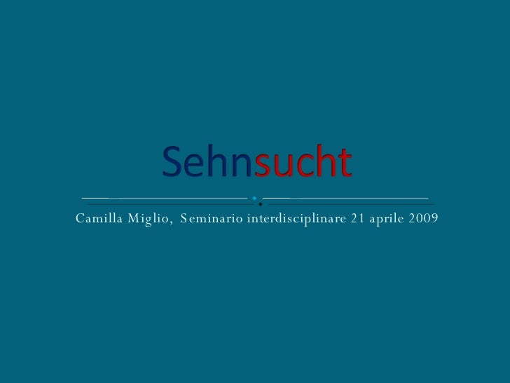 Camilla Miglio,  Seminario interdisciplinare 21 aprile 2009