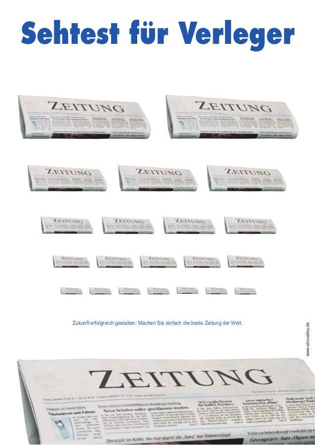 Sehtest für Verleger Zukunft erfolgreich gestalten: Machen Sie einfach die beste Zeitung der Welt. www.abovalley.de