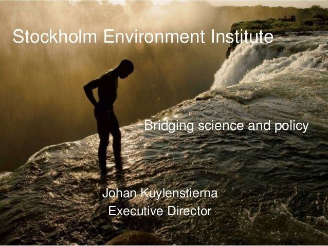 Stockholm Environment Institute                Bridging science and policy          Johan Kuylenstierna           Executiv...