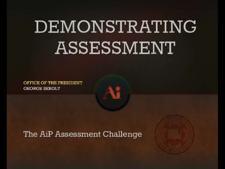 President Assessment Slides
