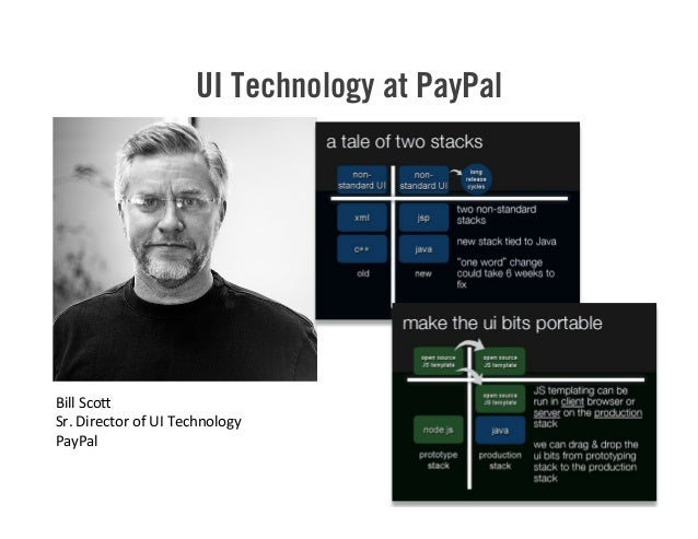 UI Technology at PayPal 44 Bill  Sco> Sr.  Director  of  UI  Technology PayPal