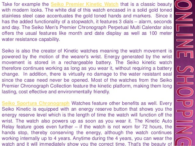 Seiko premier chronograph and kinetic watches Slide 3