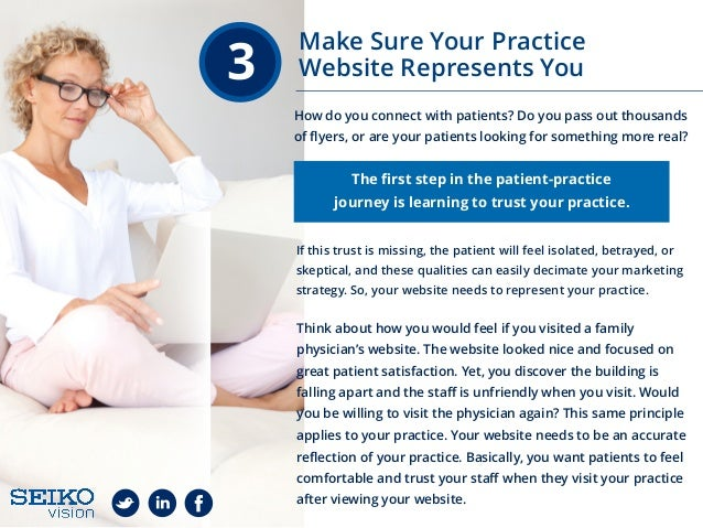 3 How do you connect with patients? Do you pass out thousands of flyers, or are your patients looking for something more re...