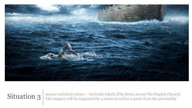 Situation 3 Across turbulent waters – Gertrude Ederle [The Swim Across The English Chanel]  The imagery will be supported ...