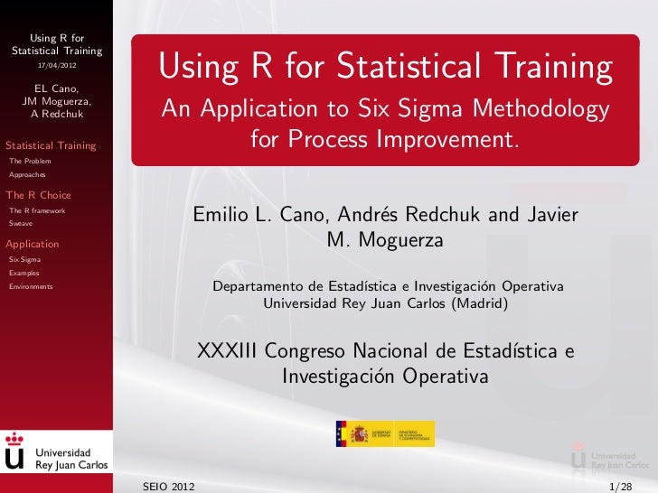 Using R for Statistical Training         17/04/2012     EL Cano,                          Using R for Statistical Training...