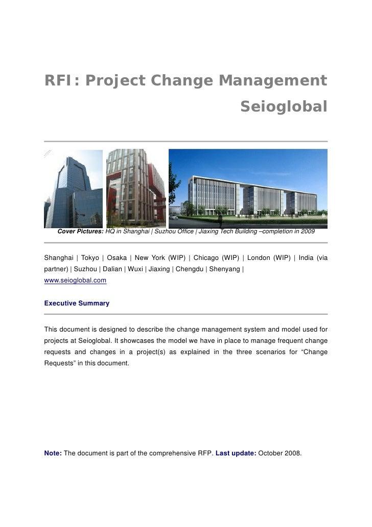 RFI: Project Change Management                                                                    Seioglobal         Cover...