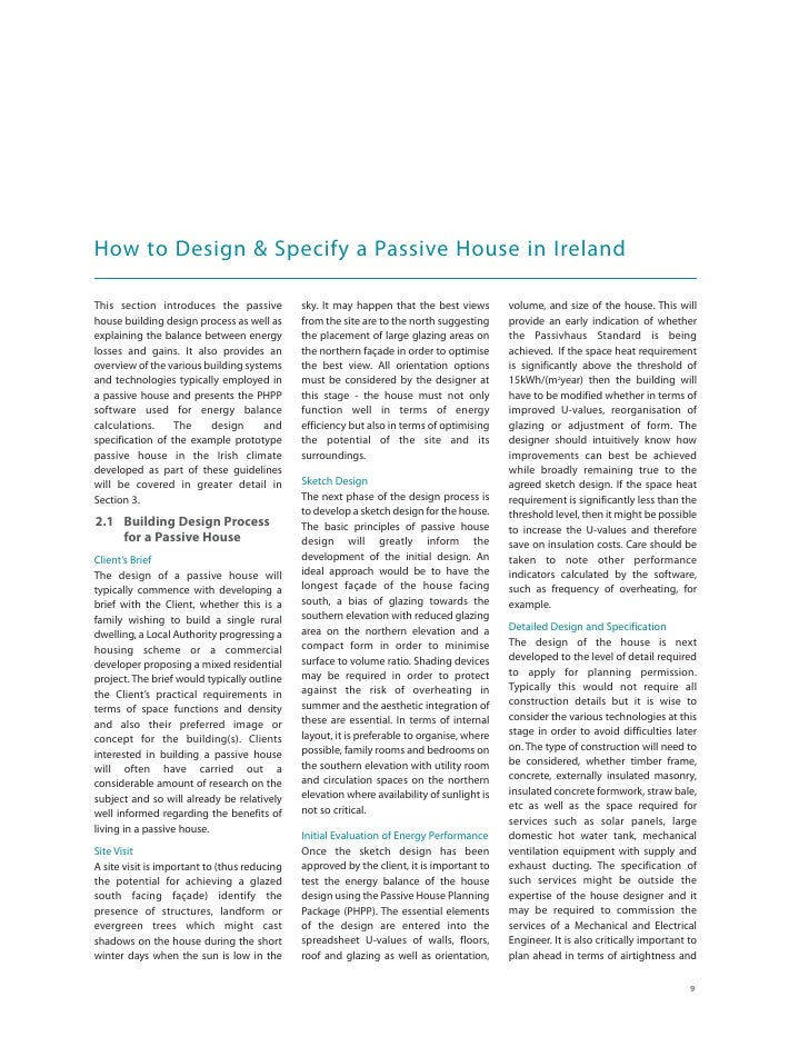 How to Design & Specify a Passive House in Ireland  This section introduces the passive           sky. It may happen that ...