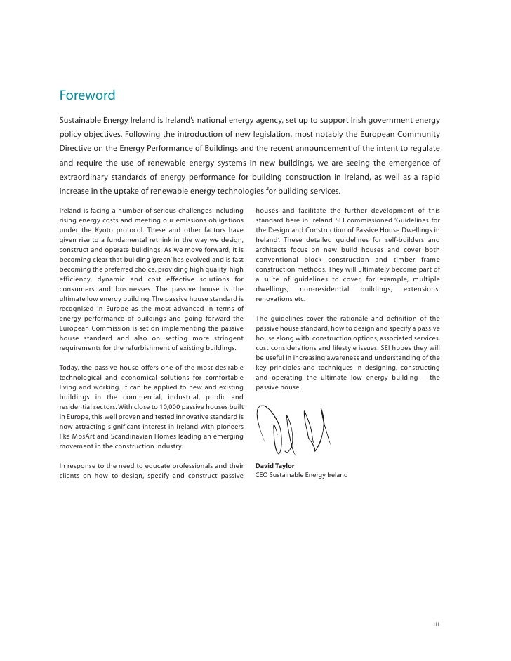 Foreword Sustainable Energy Ireland is Ireland's national energy agency, set up to support Irish government energy policy ...