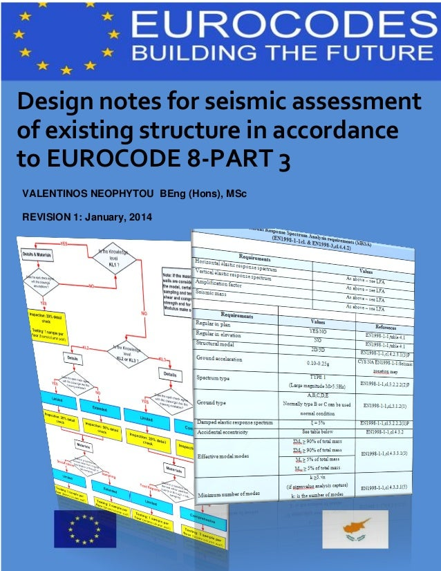 Design notes for seismic assessment of existing structure in accordance to EUROCODE 8-PART 3 VALENTINOS NEOPHYTOU BEng (Ho...