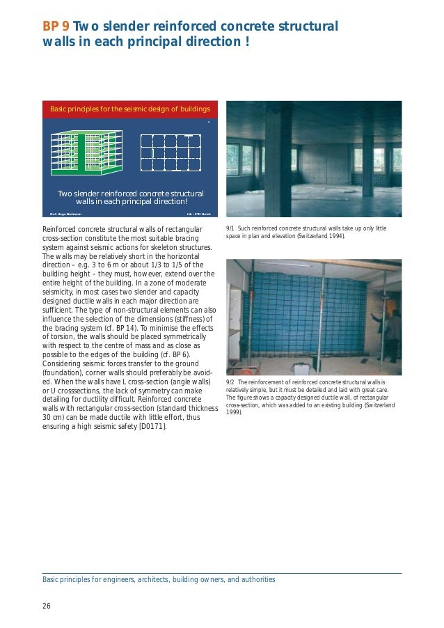 Seismic conceptual design of buildings