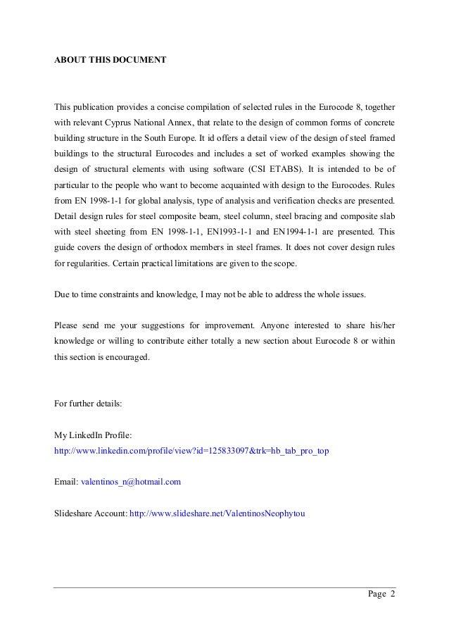 ETABS manual - Seismic design of steel buildings according to Eurocode 3 & 8  Slide 2