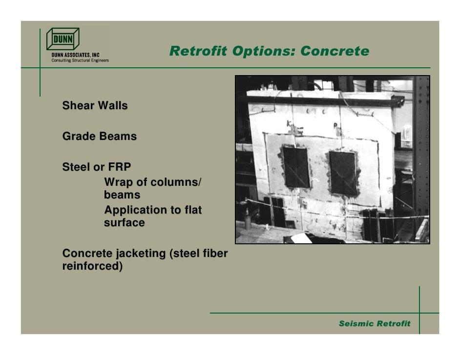 Seismic Retrofit Methods