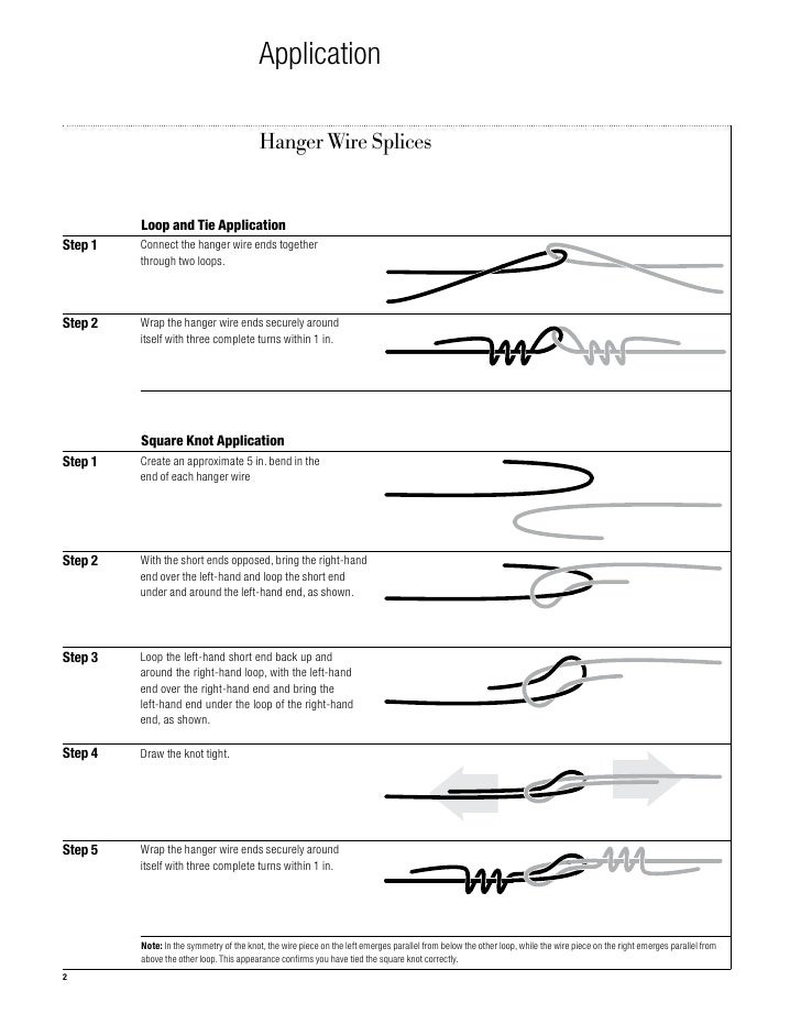 Seismic technical guide, hanger wire