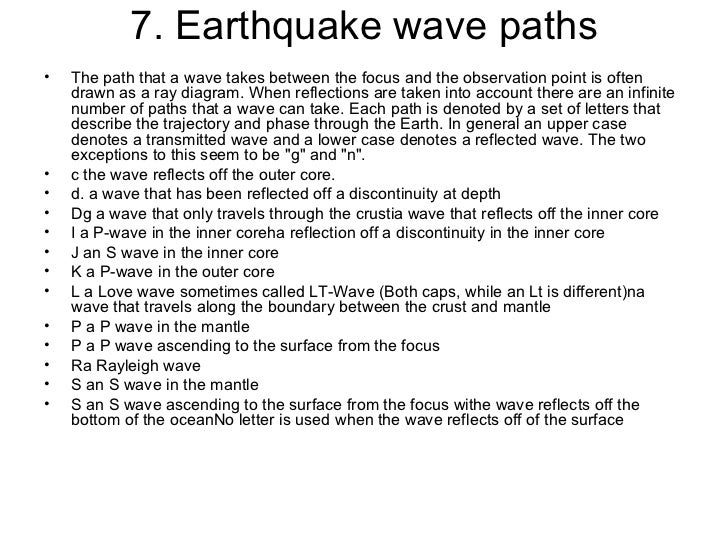 assignment on earthquake