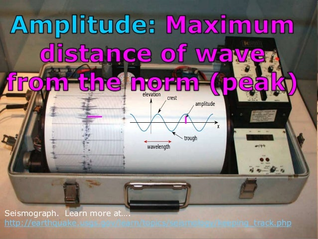 Seismograph. Learn more at…. http://earthquake.usgs.gov/learn/topics/seismology/keeping_track.php