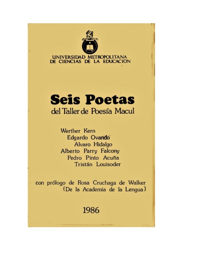 Seis poetas (1986)   Edgardo Ovando y otros