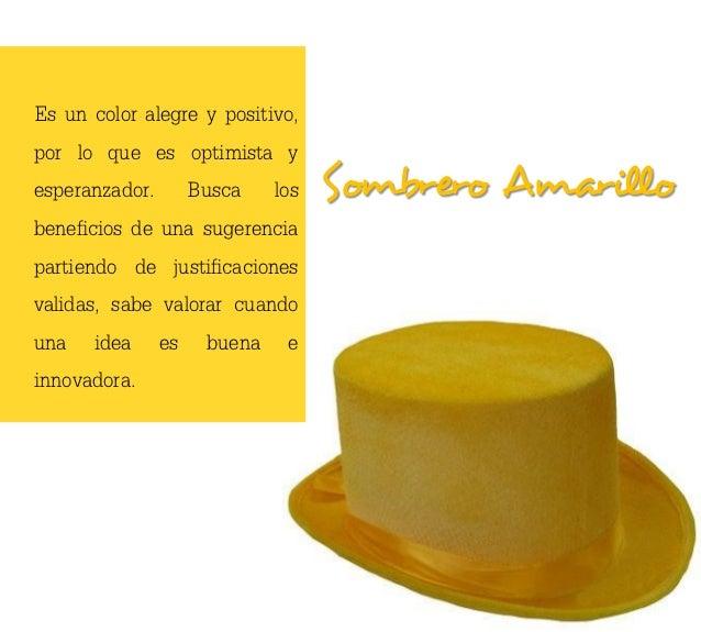 Es un color alegre y positivo,por lo que es optimista yesperanzador. Busca los          Sombrero Amarillobeneficios de una...