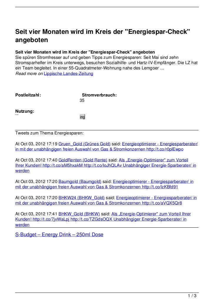 """Seit vier Monaten wird im Kreis der """"Energiespar-Check""""angebotenSeit vier Monaten wird im Kreis der """"Energiespar-Check"""" an..."""