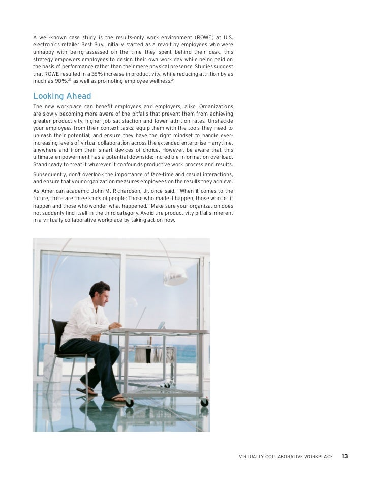 Case Study 2 - Case 3.1 ROWE and Flexible Work and Success ...