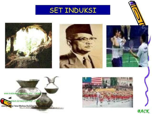 SET INDUKSI  www.museum.sarawak.gov.my/.../arkeo 1.htm. www.museum.sarawak.gov.my/.../arko 5.htm. www.pnm.my/new/Melayu/ko...