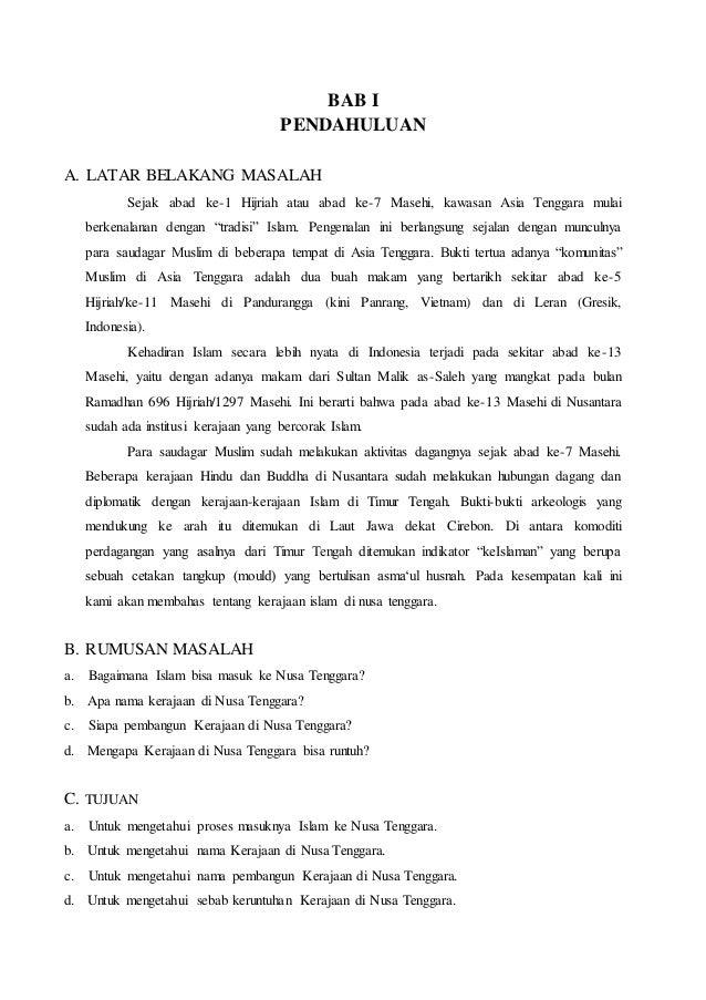 Makalah Sejarah Masuknya Islam Di Indonesia Seputar Sejarah