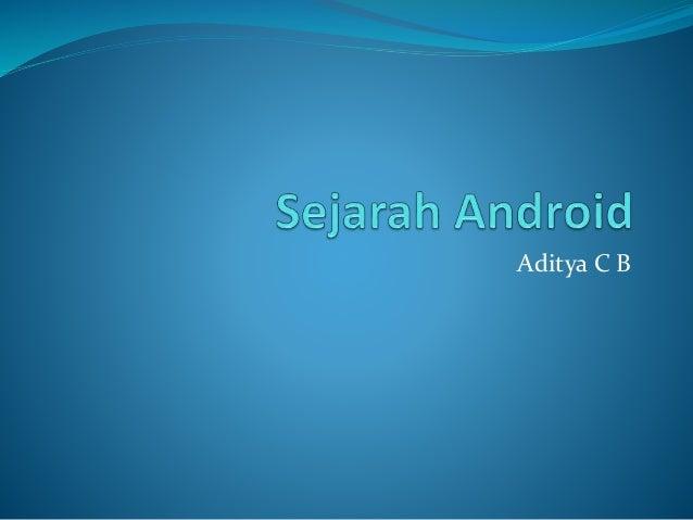 Aditya C B