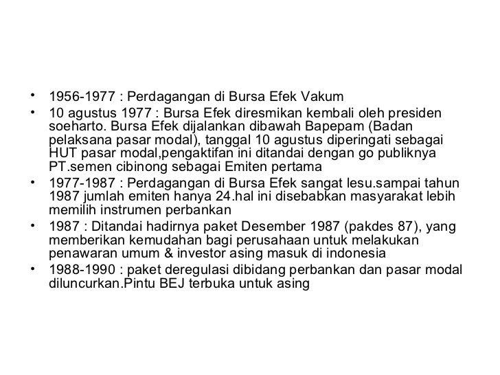 Sejarah bursa efek indonesia (bei) Slide 3