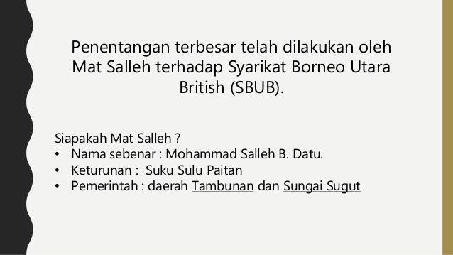 Penentangan Mat Salleh Di Sabah Ppt Download